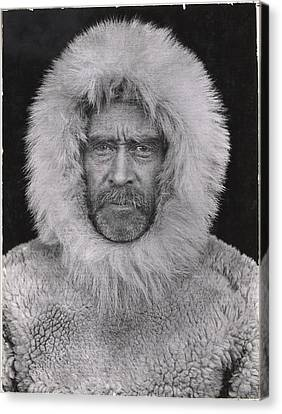 A Portrait Of Robert E. Peary Canvas Print by Robert E Peary