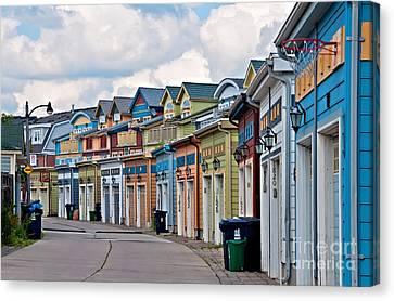 A Pretty Street In The Beach Canvas Print
