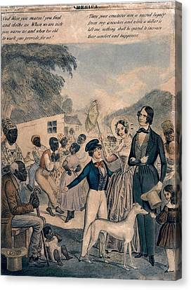 A Pro-slavery Portrayal Canvas Print