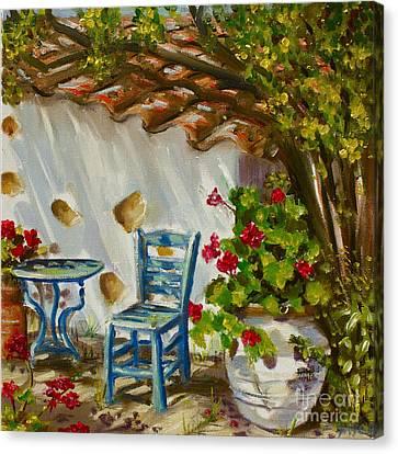 A Quiet Corner Canvas Print by Yvonne Ayoub