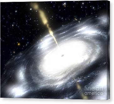 A Rare Galaxy That Is Extremely Dusty Canvas Print by Stocktrek Images