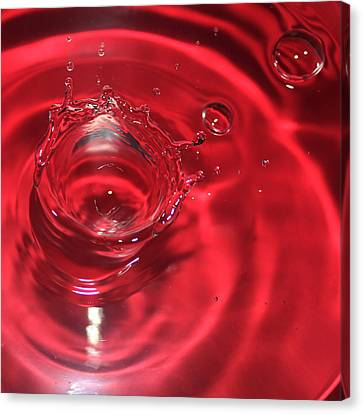 A Red Splash Of Water Canvas Print