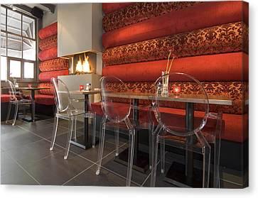 A Restaurant Interior.  Tables Canvas Print