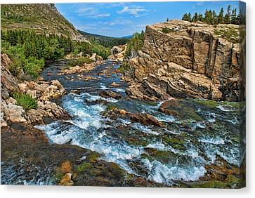 A River Runs Through It Canvas Print by Lanis Rossi