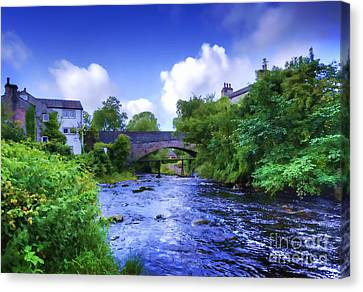 Canvas Print featuring the photograph A River Runs Thru It In The Yorkshire Dales by Jack Torcello