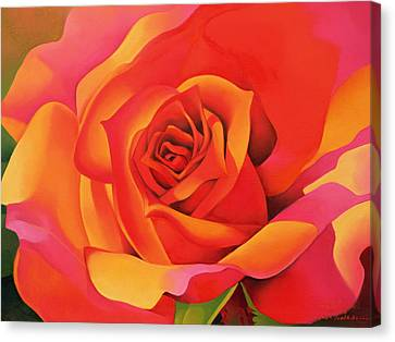 A Rose - Transformation Into The Sun Canvas Print