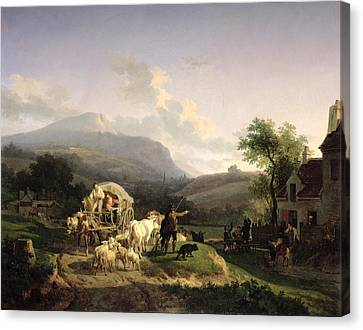 A Rural Landscape Canvas Print by Auguste-Xavier Leprince