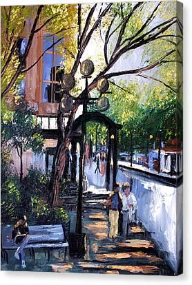 A Saturday Stroll  Canvas Print by Anthony Falbo
