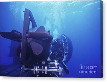 A Seal Delivery Vehicle Is Tied Canvas Print by Michael Wood