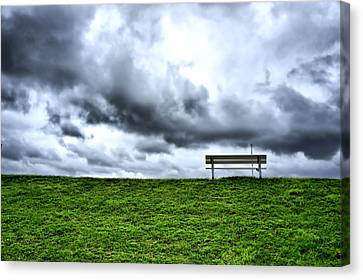 A Seat With A View Canvas Print by Edward Myers