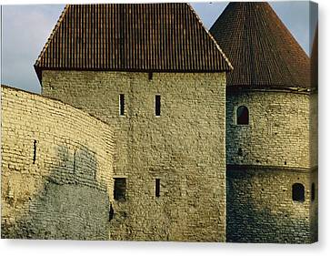 A Section Of Wall Around Tallinn, Built Canvas Print by Sisse Brimberg