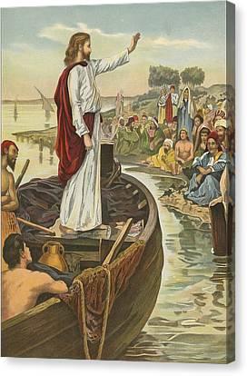 A Sermon  Canvas Print by English School