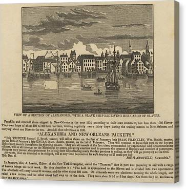 Abolitionist Canvas Print - A Ship Of Slaves In 1836 Leaving by Everett