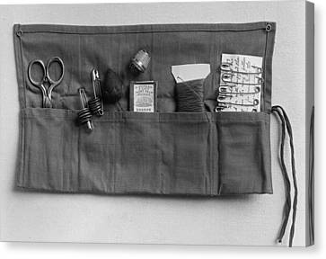A Simple Sewing Kit, Provided Canvas Print by Everett