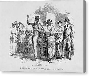 Antislavery Canvas Print - A Slave Father Sold Away by Everett