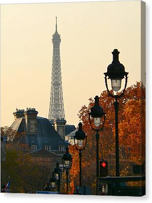 Canvas Print featuring the photograph A Slice Of Paris by Eric Tressler