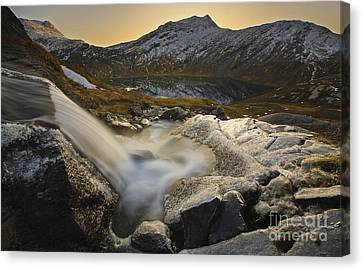 A Small Creek Running Canvas Print by Arild Heitmann