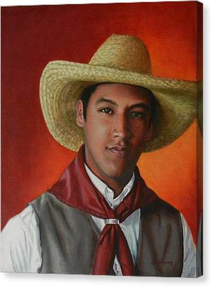A Smile From The Andes Canvas Print