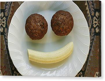 A Smiling Breakfast Of Muffins Canvas Print by Marc Moritsch