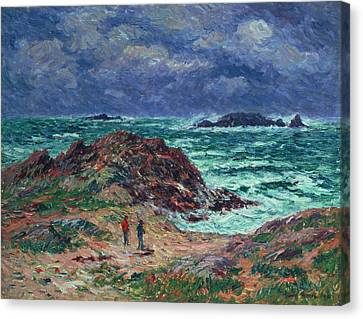 A Squall Canvas Print by Henry Moret