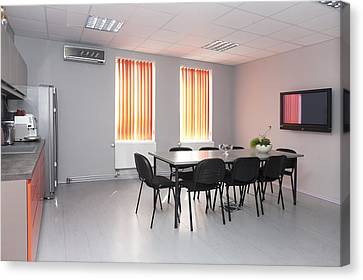 A Staff Room A Lunch Room With A Small Canvas Print