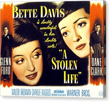 A Stolen Life, Glenn Ford, Bette Davis Canvas Print by Everett