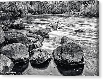 A Stones Throw Canvas Print by CJ Schmit