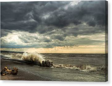 Headlands Canvas Print - A Storm Is Brewing by At Lands End Photography