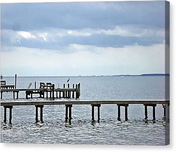 A Stormy Day On The Pamlico River Canvas Print