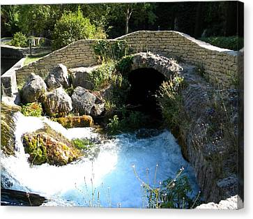 A Stream In Provence Canvas Print