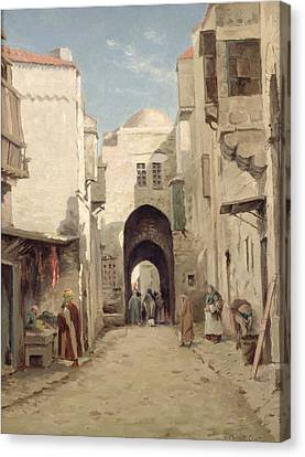 A Street In Jerusalem Canvas Print by Percy Robert Craft