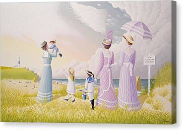 A Stroll On The Dunes Canvas Print by Peter Szumowski