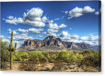 A Superstition Morning  Canvas Print