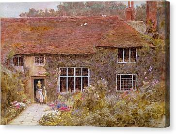 Standing Canvas Print - A Surrey Cottage by Helen Allingham