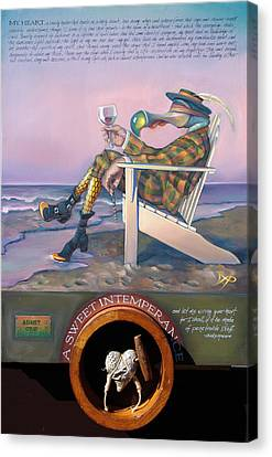 Beach Chair Canvas Print - A Sweet Intemperance by Patrick Anthony Pierson