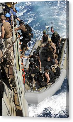 A Task Force Team Returns To Ship Canvas Print