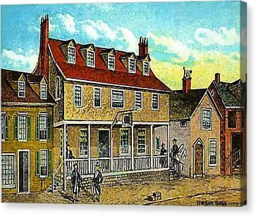 A Tavern In Philadelphia Pa Canvas Print