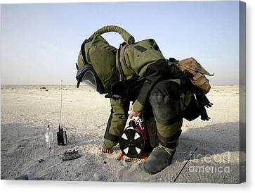 A Technician Dressed In A Eod-8 Canvas Print by Stocktrek Images
