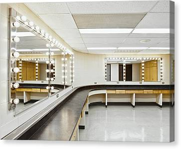 A Theater Dressing Room Canvas Print by Greg Stechishin