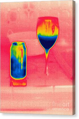 A Thermogram Of Cool Wine And Cool Soda Canvas Print
