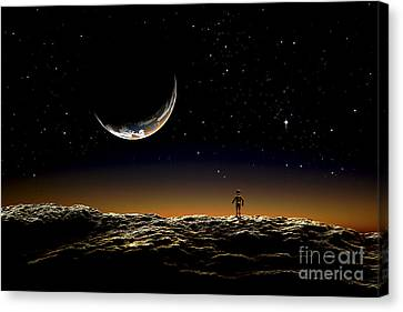 A Thin Veil Of Gaseous Material Canvas Print by Frank Hettick