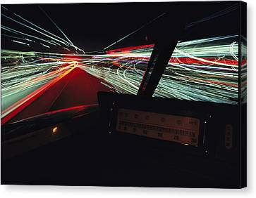 A Time Exposure Showing Streaks Canvas Print by Paul Chesley