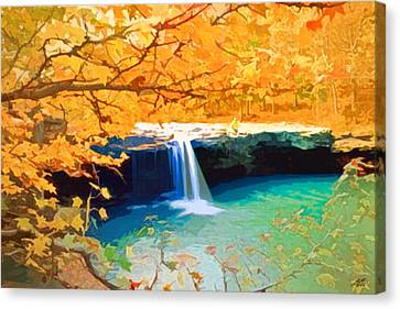 A Touch Of Fall Canvas Print by Steve Huang