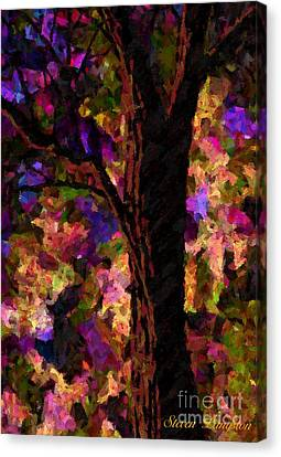 Canvas Print featuring the painting A Touch Of Lavender by Steven Lebron Langston