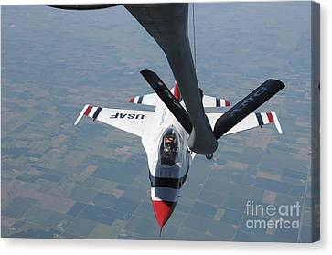 A U.s. Air Force Thunderbird Pilot Canvas Print by Stocktrek Images