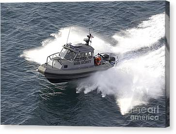 A U.s. Naval Security Sea-ark, 28-foot Canvas Print by Stocktrek Images