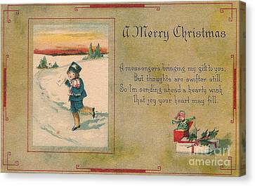 A Very Merry Christmas Canvas Print by Angela Wright