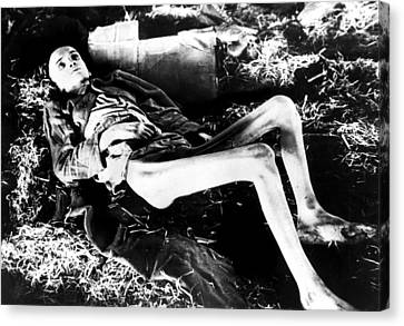 A Victim Of A German Concentration Canvas Print by Everett
