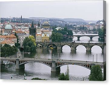 A View Down The Vltava Canvas Print by Taylor S. Kennedy