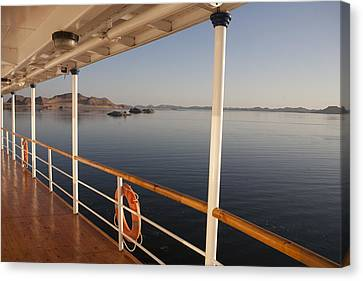 A View Of Lake Nasser From Aboard Canvas Print by Taylor S. Kennedy